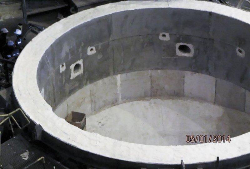 Horno reverbero en fundición de aluminio