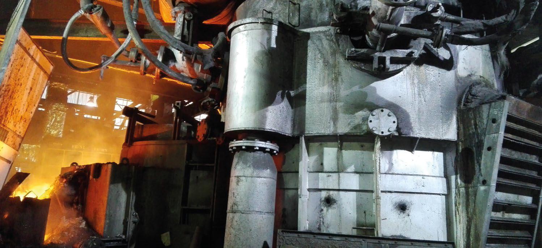 Horno cubilote en fundición de hierro