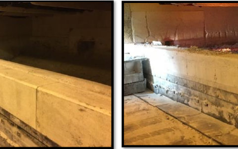 Uso de piezas prefabricadas para el umbral horno reverbero